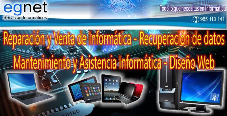 Venta y reparación de informática. Portátiles, ordenadores, tablets, tienda de informática. Diseño web. Oviedo (Asturias)