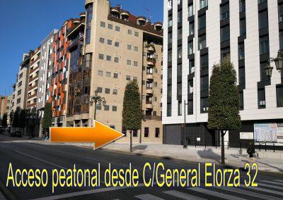 ACCESO PEATONAL DESDE C/GENERAL ELORZA 32